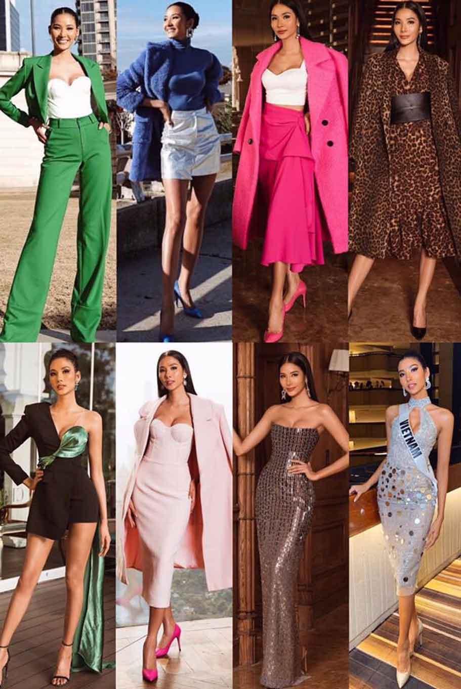 Đến với Hoa hậu Hoàn vũ 2019, khán giả có dịp chiêm ngưỡng hàng loạt trang phục cực đỉnh từ Hoàng Thùy. Nhiều người hâm mộ vui tính còn cho rằng, chân dài Thanh Hóa như đang trình diễn một bộ sưu tập thời trang.