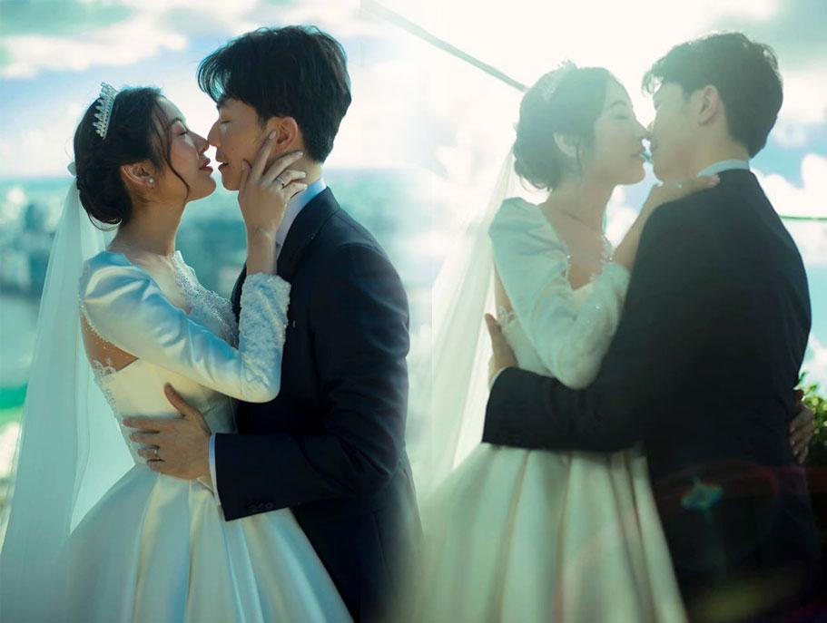Ảnh cưới của Á hậu Thúy Vân và Hoàng Nhật được công bố trước đó