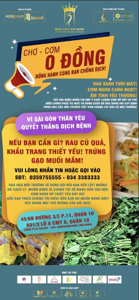17 5 Ấm áp nghĩa tình từ Chợ Rau 0 đồng của Hoa hậu Môi trường Việt Nam