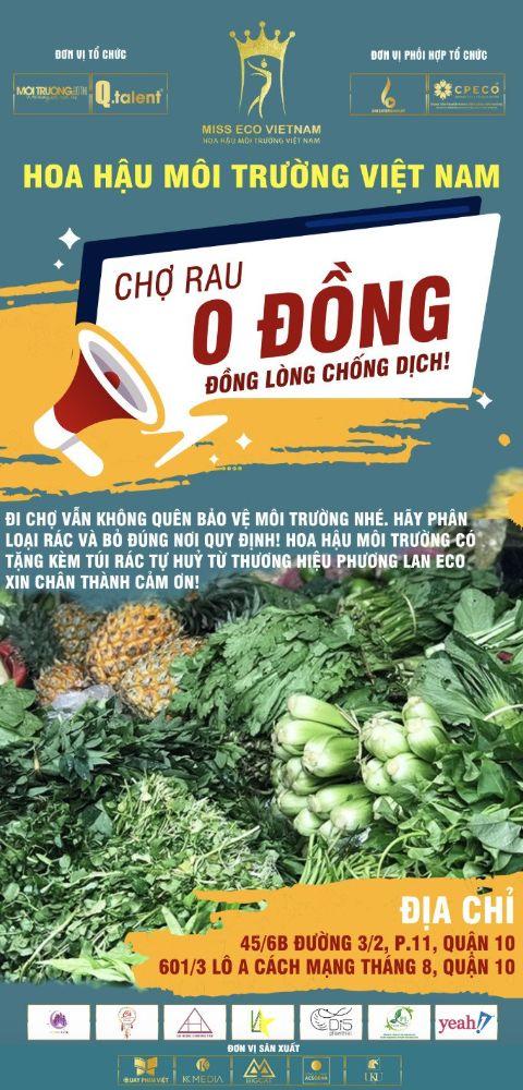 18 1 Ấm áp nghĩa tình từ Chợ Rau 0 đồng của Hoa hậu Môi trường Việt Nam